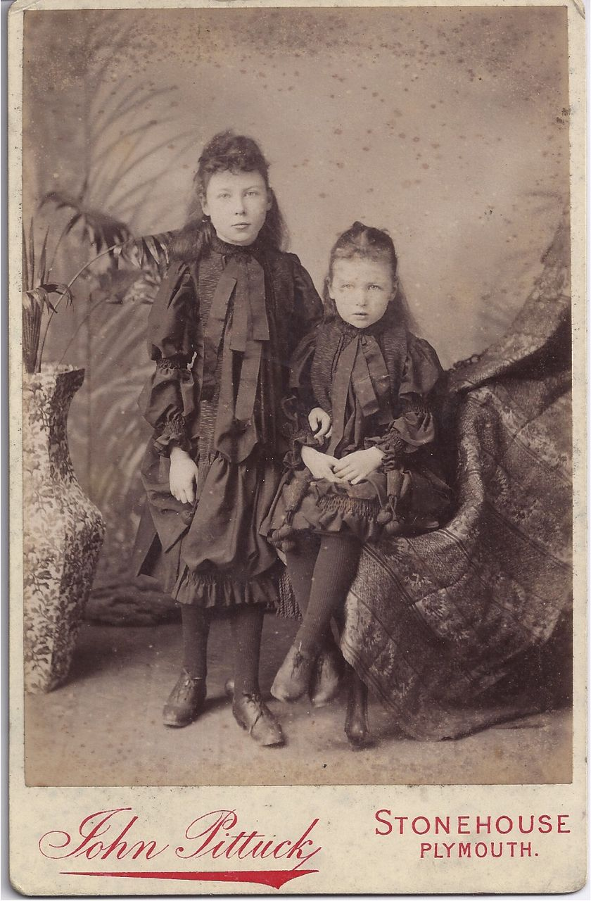 Judy's Dress Shop Laporte IN http://www.rubylane.com/item/169093-2495-6/Victorian-Cabinet-Photograph-Young-Girls