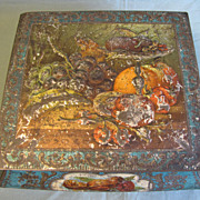 Early British Biscuit Tin, Casket, Fruit & Nuts