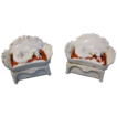 Pair of Early Fairing Trinket Boxes, Reclining Dogs