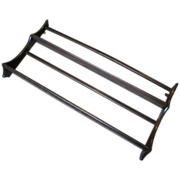 Vintage ERCOL Colonial Plate Rack, Dark Wood, Elm