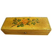 Lovely Victorian Glove Box w/ Roses