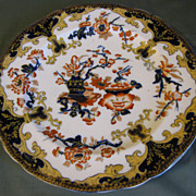 1845-68 Minton & Hollins Oriental Plate, Imari Colors, Gilded