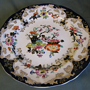 1845-68 Minton & Hollins Oriental Plate, Colorful Enamels