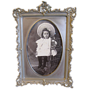 Lovely White Metal Rectangular Photograph Frame
