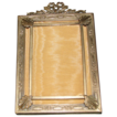 Lovely Antique Brass Photograph Frame.  French Bow, Double Corner