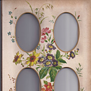 Floral Page From Victorian Photograph Album