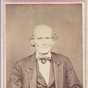 Victorian Photograph Carte De Visite Card, Older Gentleman