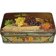 Vintage Small Meuwese Fruit Candy Tin