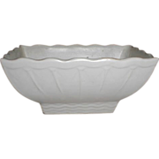 Lovely White Matte Pottery Planter McCoy USA