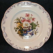Wonderful Botanical Plate, Lavender Trim