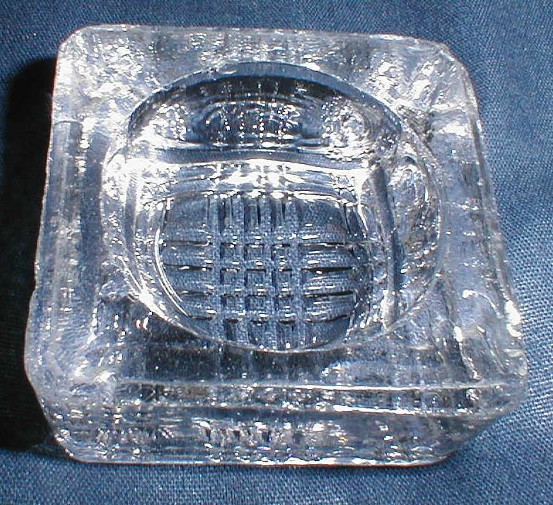 Lovely Vintage Crystal Salt Cellar (Open Salt), Square