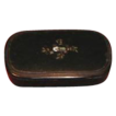 Small Black Papier Mache Box w/ Inlay Mother-of-Pearl