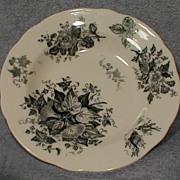 Lovely Blue Transferware Soup Plate GLORY Botanic Design
