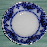 Lovely Flow Blue Berry Bowl, ALBANY, Johnson Bros., CA 1900