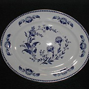 Lovely Blue Transfer Printed platter WESTON Pountney