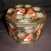 Vintage Huntley & Palmers Biscuit Tin, ROBIN, 1963