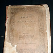 1833 Parley's Magazine Part Second for Children and Youth.