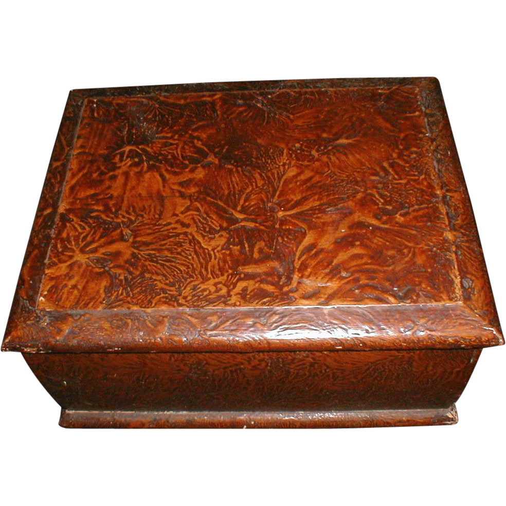 Lovely and Unusual Large Wood Sewing Box