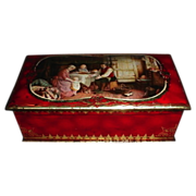 1936 McVitie & Price Edinburgh Biscuit Tin RUBY British