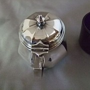 SALE English Silver Plated Mustard Pot