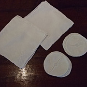 Set of Madeira White Linen Cocktail Napkins And Coasters
