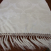 24 x 52&quot; Huck Linen Damask Show Towel