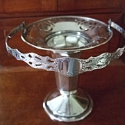SALE Handled Silver Plated Pierced & Reticulated Basket Vase