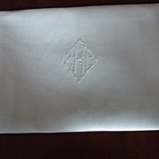 Set of Twelve Linen Napkins 21x22&quot; from 1945