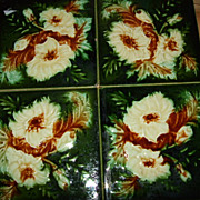 SALE Set Of 4 English 6x6&quot;  Tiles