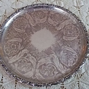 "Ellis Barker 13 1/2"" Silver On Copper Tray"