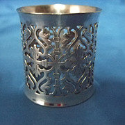 SALE Reed, Barton  & Co Pierced And Reticulated Silver PLated Napkin Ring