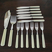 14 Piece English Fish Set By James Dixon & Sons