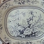 "SALE English Potter Thomas Till & Son ""Shanghae"" 15 1/2"" x 12 3/4"" Platter"