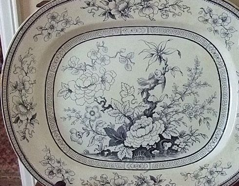 "English Potter Thomas Till & Son ""Shanghae"" 15 1/2"" x 12 3/4"" Platter"