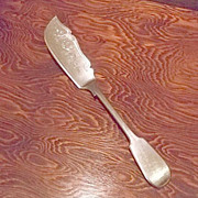 Silverplated Cheese Knife With Beautifully Engraved Design