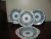 Three Minton Plates And Compote Dated 1842