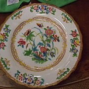"SALE Handpainted Minton 9"" Plate Dated: 1836-1841"