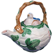The Haldon Group 1986 Blue Bird Pattern Teapot