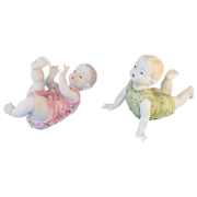 Vintage 1930's Lefton China Matched Pair Piano Babies