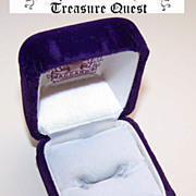 SOLD ART DECO  Purple Velvet Ring Box from Mermod, Jaccard - St. Louis!