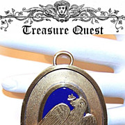 Dated 1928 Masonic Pendant - Silver Gilt, Enamel with a Dove!