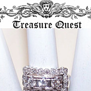 Stunning Art Deco 14K Gold & 1.35CT TW Diamond Ring!