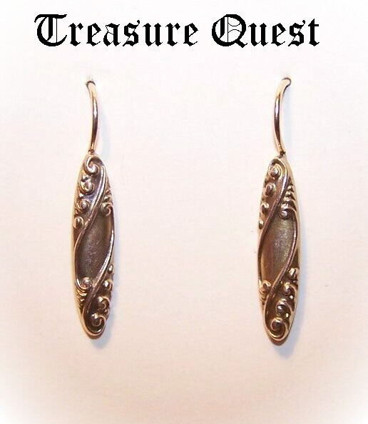 Lightweight ANTIQUE EDWARDIAN Gold Filled Drop Earrings!