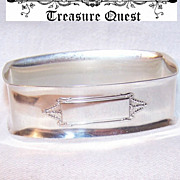 Vintage STERLING SILVER Napkin Ring by The Webster Company!