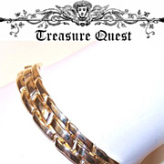 ESTATE  14K Gold Link Bracelet  - Made in Italy!