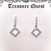 Adorable ESTATE 14K Gold & .52CT TW Diamond Drop Earrings!