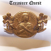 C.1910 FRENCH FIX Pin/Brooch of the Blessed Saint Joan of Arc!
