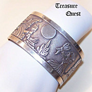 Native American STERLING SILVER Cuff Bracelet by Robert Becenti, Jr !