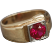 Art Deco 10k Gold & Ruby Ring