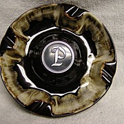 "Unique Letter ""P"" Ashtray"